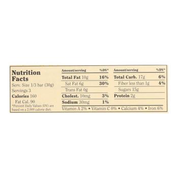 Chocolove Xoxox - Premium Chocolate Bar - Milk Chocolate - Toffee And Almonds - 3.2 Oz Bars - Case Of 12
