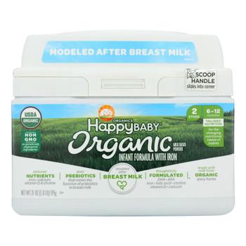 Happy Baby Organic Infant Milk Based Formula Powder - With Iron - Case Of 4 - 21 Oz - 2021137