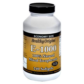 Healthy Origins E-1000 - 1000 Iu - 240 Softgels