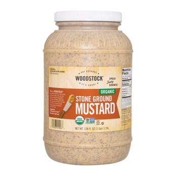 Woodstock Organic Stone Ground Mustard - Case Of 4 - 128 Oz