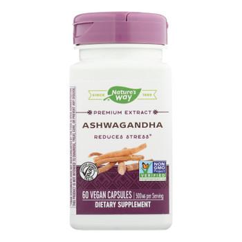 Nature's Way - Standardized Ashwagandha - 60 Vegetarian Capsules