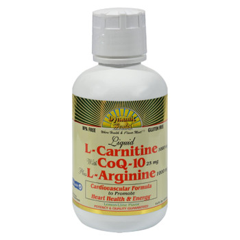 Dynamic Health Liquid L-carnitine With Coq-10 Plus L-arginine Lemon Lime - 16 Fl Oz