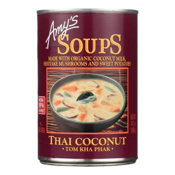 Amy's - Soup - Tom Kha Phak Thai Coconut - Case Of 12 - 14.1 Oz