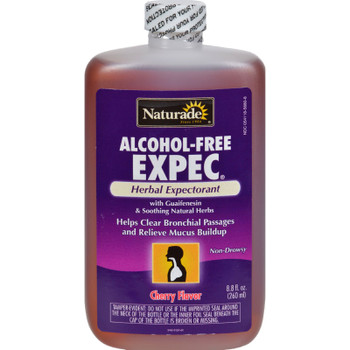 Naturade Alcohol-free Herbal Expectorant - Natural Cherry Flavor - 8.8 Oz