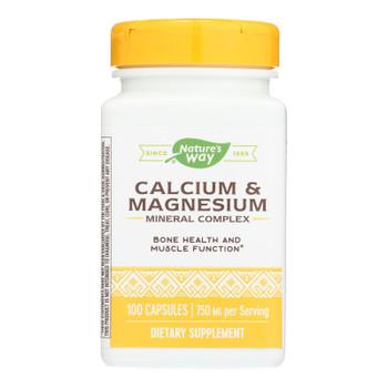 Nature's Way - Calcium And Magnesium - Mineral Complex - 100 Capsules