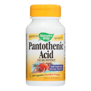 Nature's Way - Pantothenic Acid - 250 Mg - 100 Capsules