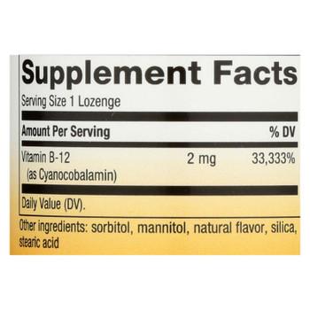 Nature's Way - Vitamin B-12 - 2000 Mcg - 100 Lozenges