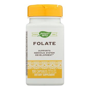 Nature's Way - Folic Acid - 800 Mcg - 100 Capsules