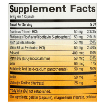 Nature's Way - Vitamin B-50 Complex - 60 Capsules