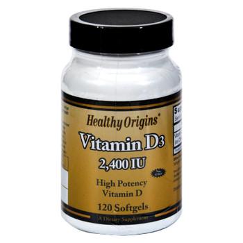 Healthy Origins Vitamin D3 - 2400 Iu - 120 Softgels
