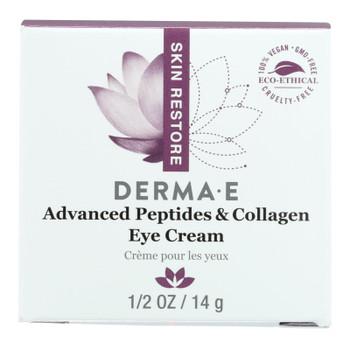 Derma E - Peptides Plus Wrinkle Reverse Eye Creme - 14 G - 0.5 Oz.