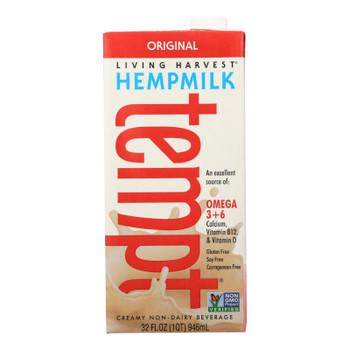 Living Harvest Hemp Milk - Original Flavor - Case Of 12 - 32 Fl Oz.