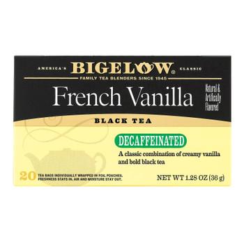 Bigelow Tea Tea - Decaf - French Vanilla - Case Of 6 - 20 Bag