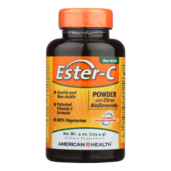American Health - Ester-c Powder With Citrus Bioflavonoids - 4 Oz