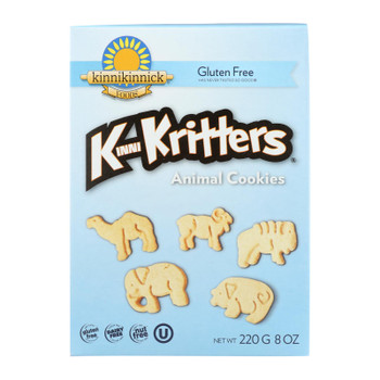Kinnikinnick Animal Cookies - Vanilla - Case Of 6 - 8 Oz.