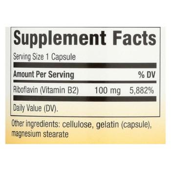 Nature's Way - Vitamin B-2 - 100 Mg - 100 Capsules
