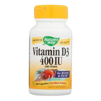 Nature's Way - Vitamin D-400 - 400 Iu - 100 Capsules