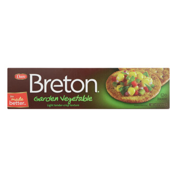 Breton/dare - Crackers - Garden Vegetable - Case Of 12 - 8 Oz.