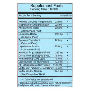 Dr. Shen's Formula A Min Kan Wan Allergy Pill - 750 Mg - 90 Tablets
