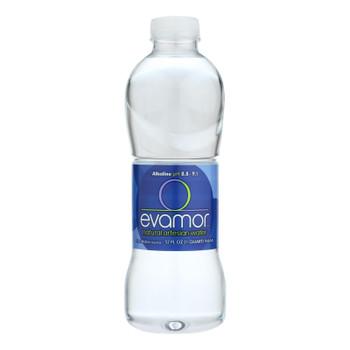 Evamor Naturally Alkaline Artesian Water - Natural Artesian - Case Of 12 - 32 Fl Oz.