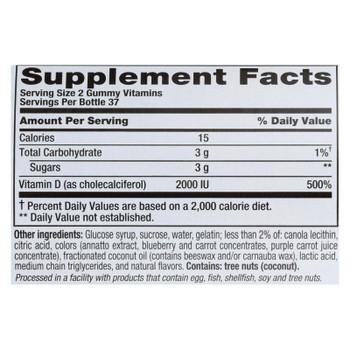 Nutrition Now Vitamin D Gummy Vitamins - 75 Gummies