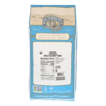 Lundberg Family Farms Organic Wild Blend Gourmet Brown Rice - Case Of 25 Lbs