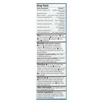 Natrabio Cold And Sinus Nasal Spray - 0.8 Fl Oz