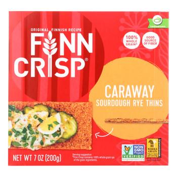 Finn Crisp Crispbread - Caraway - 7 Oz - Case Of 9