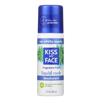 Kiss My Face Deodorant Liquid Rock Roll-on Fragrance Free - 3 Fl Oz