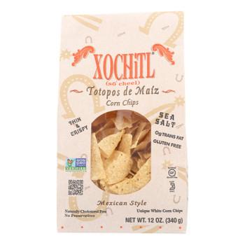 Xochitl Corn Chips - White Corn - Case Of 10 - 12 Oz.