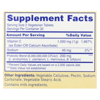 American Health - Ester-c Digestion And Immune Health Complex - 1000 Mg - 60 Vegetarian Tablets