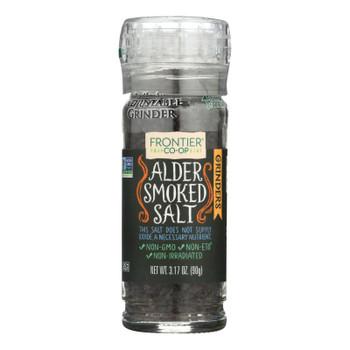 Frontier Herb Alder Smoked Salt - Grinder Bottle - 3.2 Oz - Case Of 6