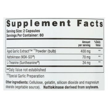 Kyolic - Aged Garlic Extract Blood Pressure Health Formula 109 - 160 Capsules