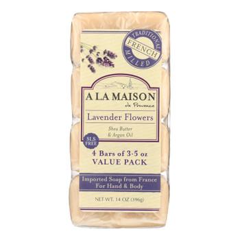 A La Maison - Bar Soap - Lavender Flowers - Value 4 Pack