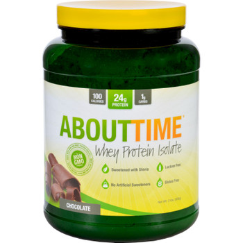 About Time - Whey Protein Isolate - Chocolate - 2 Lb