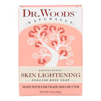 Dr. Woods Bar Soap Skin Lightening English Rose - 5.25 Oz