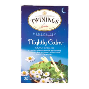 Twining's Tea Green Tea - Bedtime Blend - Case Of 6 - 20 Bags