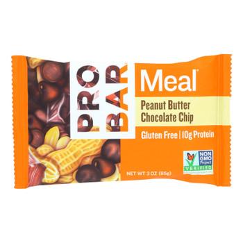 Probar Organic Peanut Butter Chocolate Chip Bar - Case Of 12 - 3 Oz