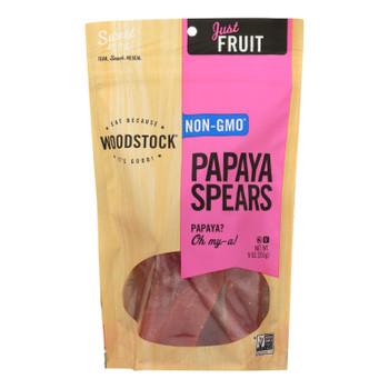 Woodstock Sweetened Papaya Spears - Case Of 8 - 9 Oz