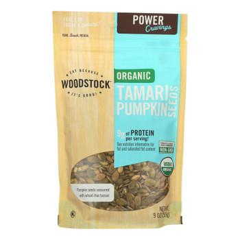 Woodstock Organic Tamari Pumpkin Seeds - Case Of 8 - 9 Oz