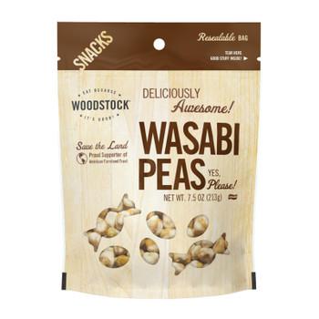 Woodstock Wasabi Peas - Case Of 8 - 7.5 Oz