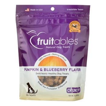 Fruitables Skinny Minis Dog Treats - Pumpkin & Berry Flavor - Case Of 8 - 7 Oz