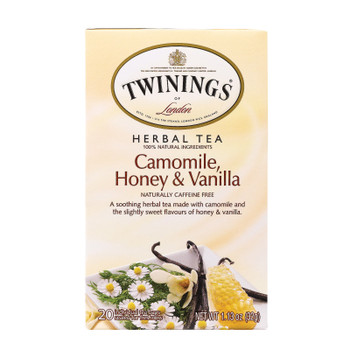 Twining's Tea Herbal Tea - Chamomile Honey And Vanilla - Case Of 6 - 20 Bags