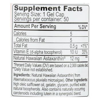 Nutrex Hawaii Bioastin Hawaiin Astaxanthin - 12 Mg - 50 Gel Caps