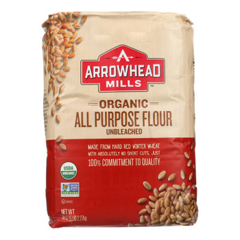 Arrowhead Mills - Organic Enriched Unbleached White Flour - Case Of 8 - 5
