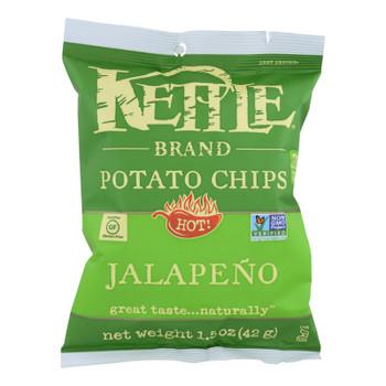 Kettle Brand Potato Chips - Jalapeno - Hot - 1.5 Oz - Case Of 24