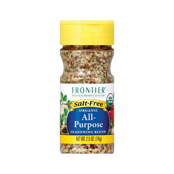 Frontier Herb All Purpose Seasoning - Salt Free - Case Of 6 - 2.5 Oz.