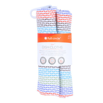 Full Circle Home Tidy Dish Cloths - 12 Inch X 12 Inch - Case Of 12 - 3 Pack