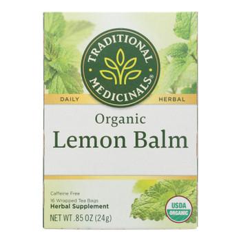 Traditional Medicinals Organic Herbal Tea - Lemon Balm Lemon Bal Og2 - Case Of 6 - 16 Bags