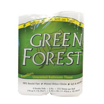 Green Forest Premium Bathroom Tissue - Unscented 2 Ply - Case Of 12
